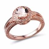 Morganite Engagement Ring Diamond Accented